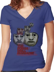 Power Drill Massacre (psychedelic) Women's Fitted V-Neck T-Shirt