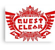 MONSTER HUNTER 4 - QUEST CLEAR Canvas Print