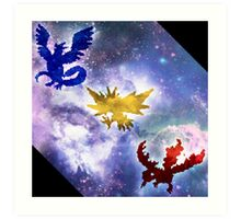 Legendary Galaxy Birds Art Print