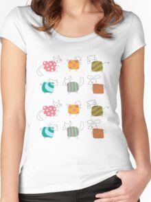 Baby Moo! Oink! Cheep! Meow! Woof! Thump! Women's Fitted Scoop T-Shirt