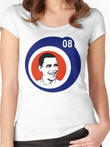 obama 08 : circles Women's Fitted Scoop T-Shirt