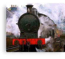 The Train Leaving Canvas Print