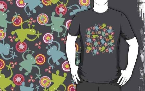 Spaced Out! T-shirt by fatfatin