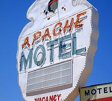 Route 66 - Apache Motel in Tucumcari by Frank Romeo