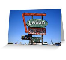 Route 66 - Lasso Motel Greeting Card