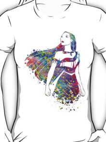 Princess Pocahontas Watercolor T-Shirt