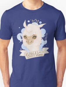 Alpacas are my Spirit Animal Unisex T-Shirt