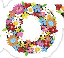 JOY Spring Flowers Sticker