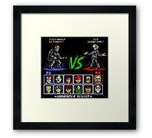 Super 80's Good Vs. Evil! Framed Print