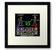 Super 80's Good Vs. Evil! Framed Print