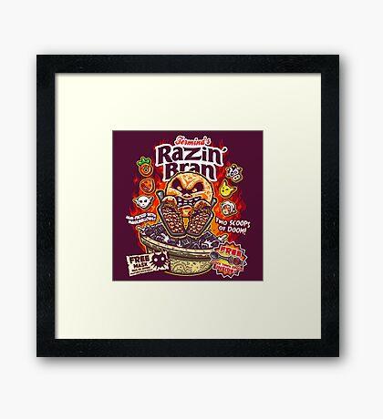 Razin' Bran Framed Print