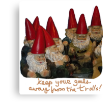 Keep Your Goals Away from the Trolls Canvas Print