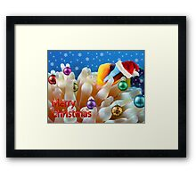 Underwater Christmas Card Framed Print