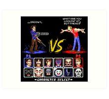 Super 80's Good Vs. Evil 2! Art Print
