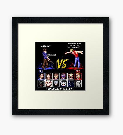 Super 80's Good Vs. Evil 2! Framed Print
