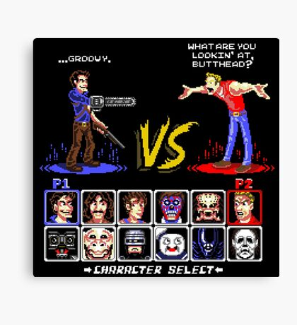 Super 80's Good Vs. Evil 2! Canvas Print