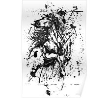 Horse Drip painting Poster