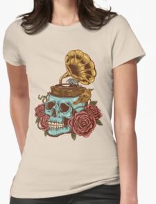 stuck on my head Womens Fitted T-Shirt