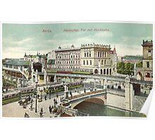 """Berlin """"Hallesches Tor"""" and """"Hochbahn"""" Poster"""