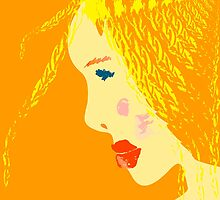 Sunny blonde girl in a water paint by sullivanthedog