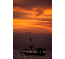 Dhow Sunset Photographic Print
