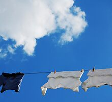 Corfu Clothes line by Swell Photography