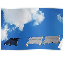 Corfu Clothes line Poster