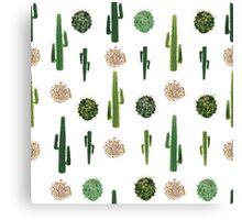 Cacti and tumbleweed seamless pattern Canvas Print
