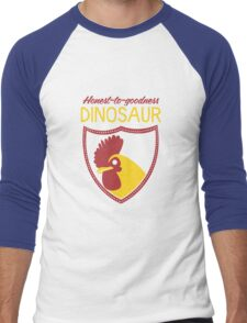 Honest-To-Goodness Dinosaur: Rooster (on dark background) Men's Baseball ¾ T-Shirt