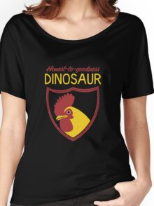 Honest-To-Goodness Dinosaur: Rooster (on dark background) Women's Relaxed Fit T-Shirt