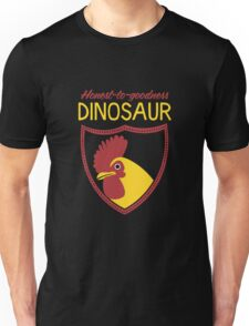 Honest-To-Goodness Dinosaur: Rooster (on dark background) T-Shirt