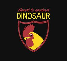 Honest-To-Goodness Dinosaur: Rooster (on dark background) Unisex T-Shirt