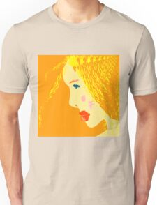 Sunny blonde girl in a water paint Unisex T-Shirt