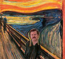 Ron Swanson - Scream by joshgranovsky