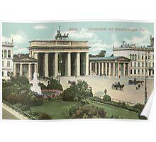 Berlin Pariser Platz and Brandenburger Tor Poster