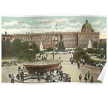 Berlin Royal Castle and the pleasure garden Poster