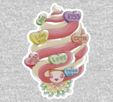 Doll faced dearies, Valentina valentines hearts ice cream swirl Kids Clothes