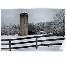 Snow on the Farm Poster