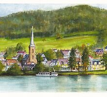 The village of Einruhr in a forest of western Germany by Dai Wynn