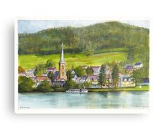 The village of Einruhr in a forest of western Germany Metal Print