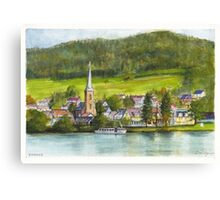 The village of Einruhr in a forest of western Germany Canvas Print