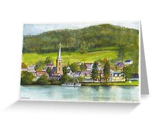 The village of Einruhr in a forest of western Germany Greeting Card