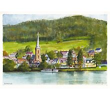 The village of Einruhr in a forest of western Germany Photographic Print