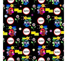 Funny snails mosaic pattern Photographic Print