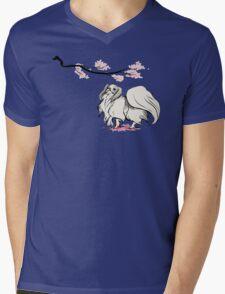 Beneath Cherry Blossoms [Transparent] Mens V-Neck T-Shirt