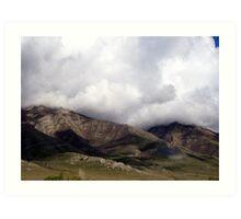 Low Clouds   Utah Art Print