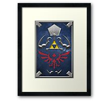 Twilight Princess Hylian Shield Framed Print