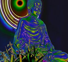 Psychedelic Buddha by heatherfriedman