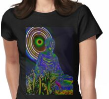 Psychedelic Buddha Womens Fitted T-Shirt