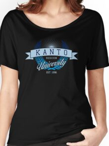 Kanto Region University_Dark BG Women's Relaxed Fit T-Shirt